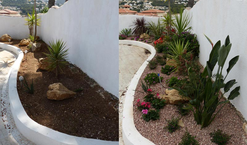 garden-makeover as part of our gardening and garden care services in Moraira